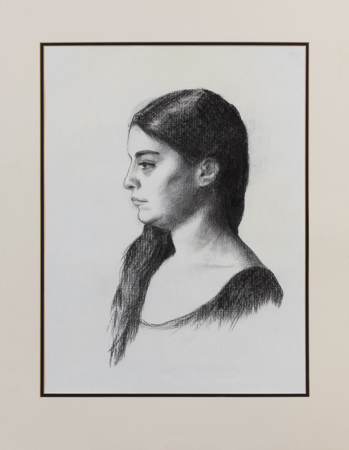 Female – Charcoal on paper