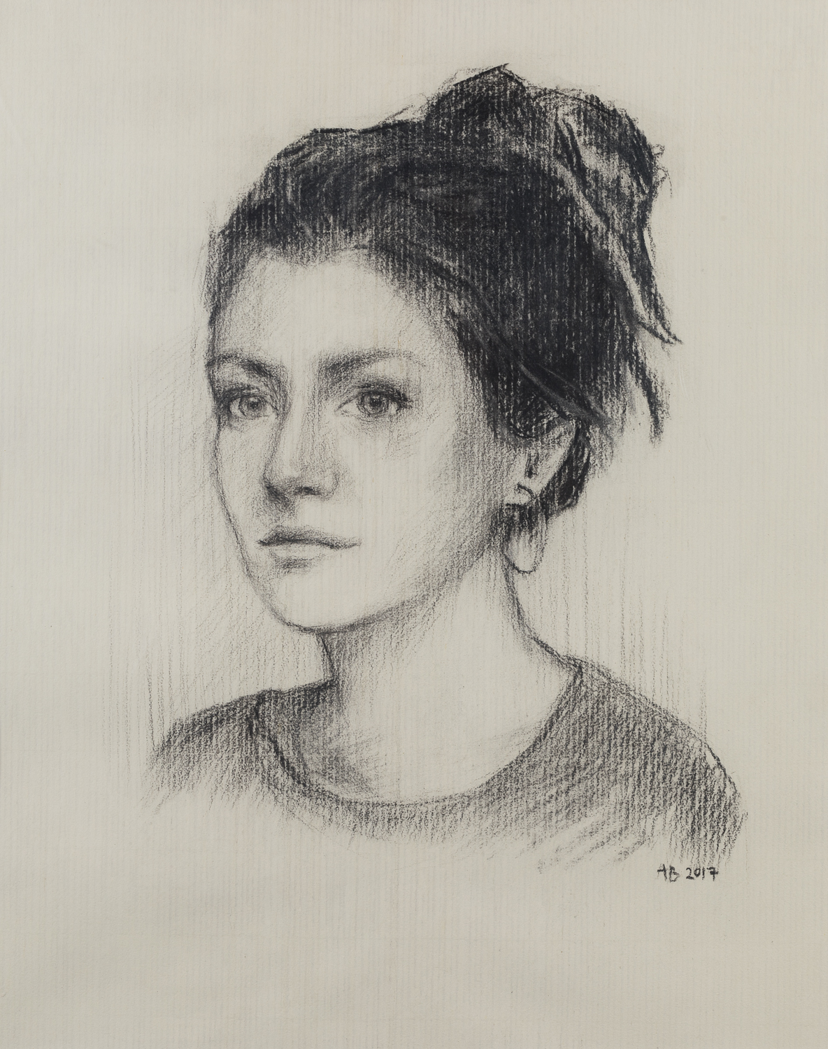 Iona – Charcoal on paper